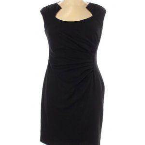 Calvin Klein Ruched Little Black Dress 14